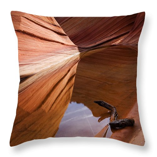 Wave Rock Throw Pillow featuring the photograph Eye Of The Wave by Mike Dawson