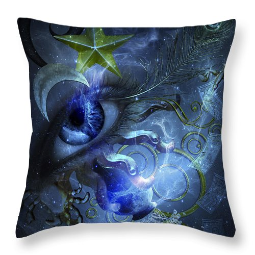Eye Of The Witch Throw Pillow featuring the painting Eye Of The Witch by Betta Artusi