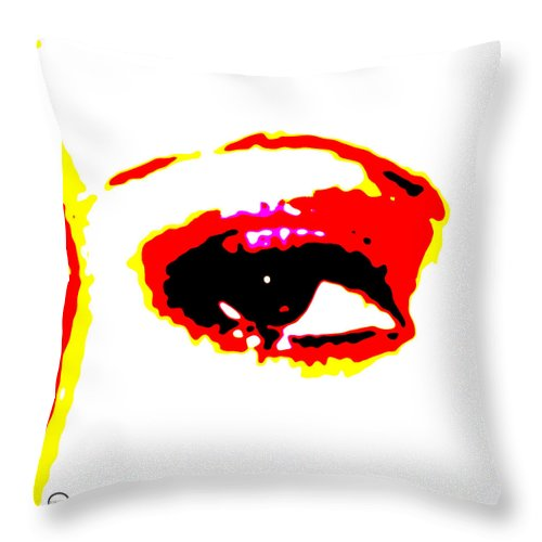 Square Throw Pillow featuring the digital art Eye Peace 1 by Eikoni Images