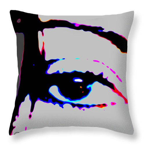 Square Throw Pillow featuring the digital art Eye Peace 2 by Eikoni Images