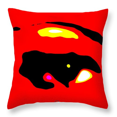 Square Throw Pillow featuring the digital art Eye Peace 3 by Eikoni Images