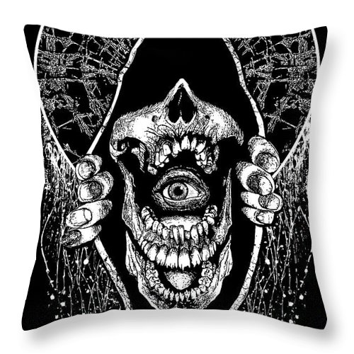 Lies Throw Pillow featuring the mixed media Eye See by Tony Koehl