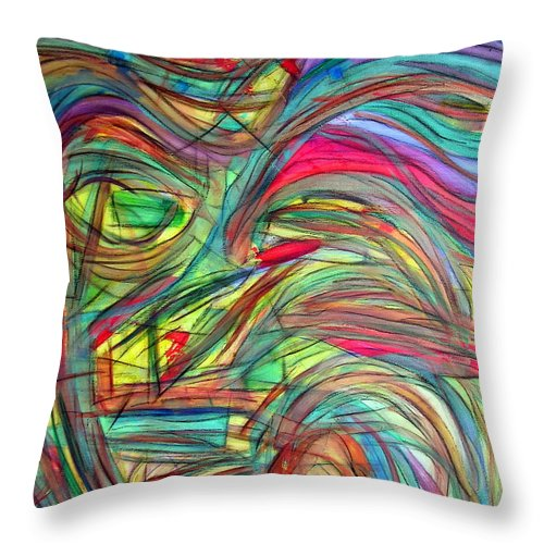 Art Throw Pillow featuring the painting Eyes Of Persephone by Dawn Hough Sebaugh
