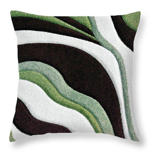 Martha Ann Throw Pillow featuring the painting F131716 by Mas Art Studio