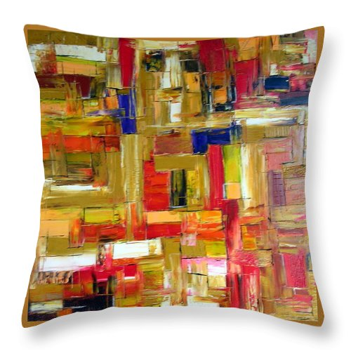 Face Of The Abyss Throw Pillow featuring the painting Face Of The Abyss by Dawn Hough Sebaugh