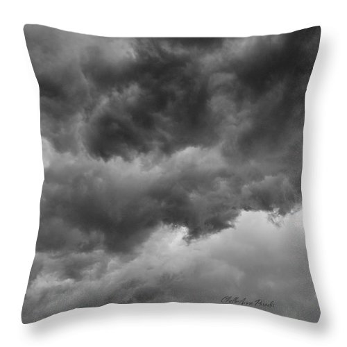 Clouds Throw Pillow featuring the photograph Faces In The Mist Of Chaos by ChelleAnne Paradis