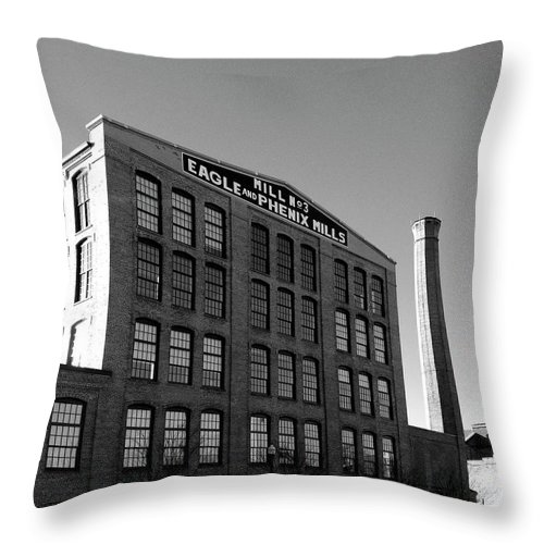 Architecture Throw Pillow featuring the photograph Factory by Dick Goodman