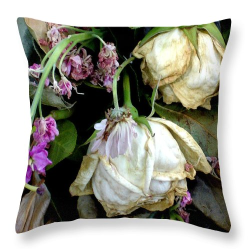 Roses Throw Pillow featuring the photograph Faded Beauty by Valerie Fuqua