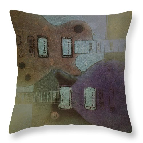 Faded Throw Pillow featuring the photograph Faded Glory - Les Paul by Bill Cannon