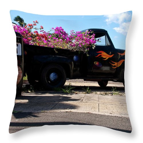 Ford Throw Pillow featuring the photograph Faded Glory by Roger Mullenhour