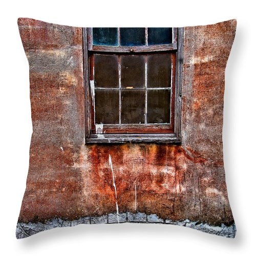 Window Throw Pillow featuring the photograph Faded Over Time by Christopher Holmes