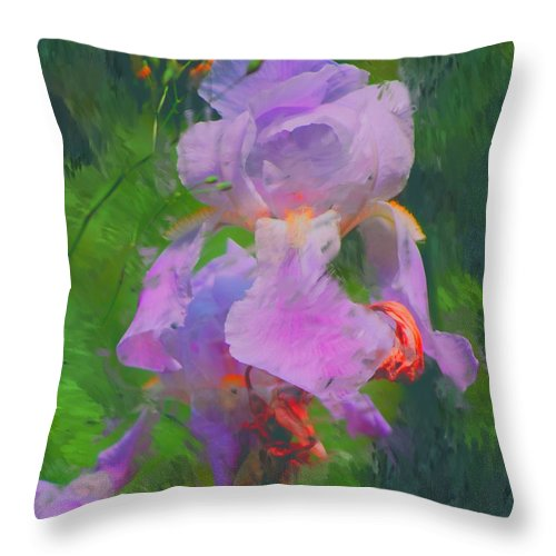 Iris Throw Pillow featuring the painting Fading Glory by David Lane