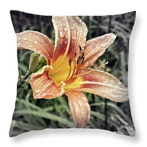 Lily Throw Pillow featuring the photograph Fading Memory by Sarah Loft