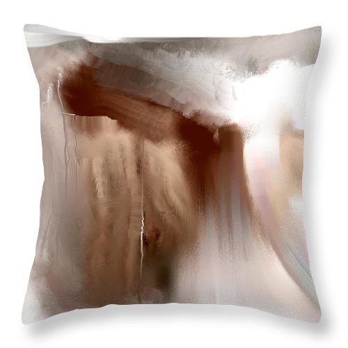Davina Nicholas Throw Pillow featuring the painting Fading Sepia by Davina Nicholas