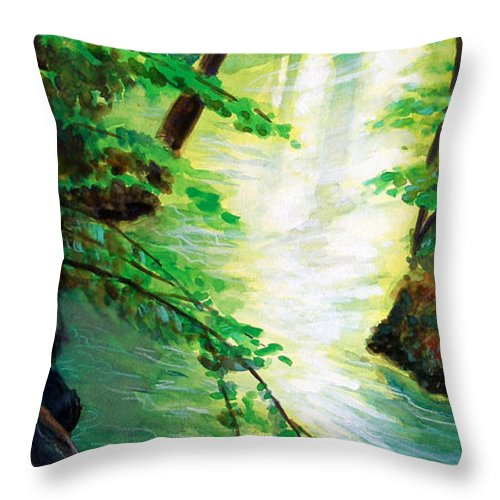 Forest Throw Pillow featuring the painting Fairfax Summer by Ken Meyer