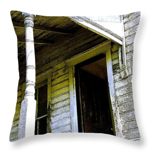 Porch Throw Pillow featuring the photograph Fairview Ohio - Number 1 by Nelson Strong