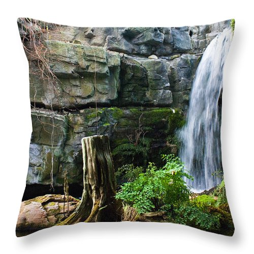 Waterfall Throw Pillow featuring the photograph Fairy Waterfall by Douglas Barnett
