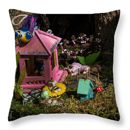 Jay Stockhaus Throw Pillow featuring the photograph Fairy World 4 by Jay Stockhaus