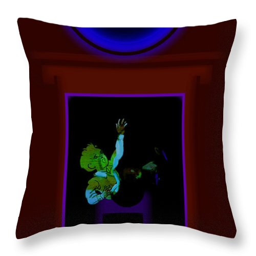 Palladian Throw Pillow featuring the painting Fall Blue by Charles Stuart