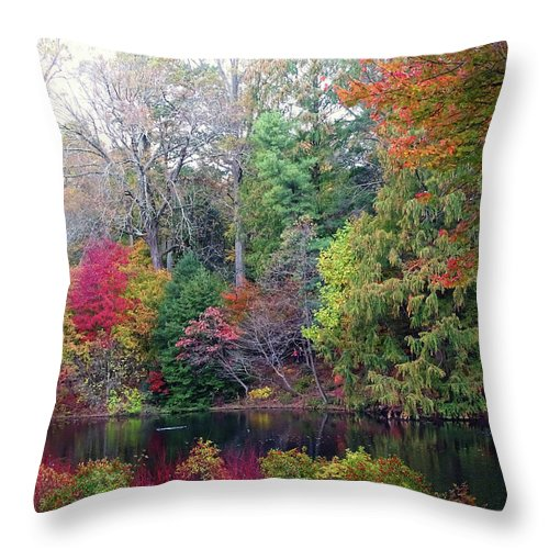 Fallcolors Throw Pillow featuring the photograph Fall Colors by Deborah England
