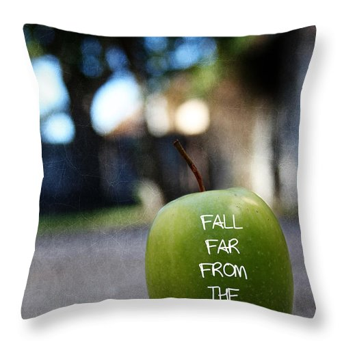 Apple Throw Pillow featuring the photograph Fall Far From The Tree- Art By Linda Woods by Linda Woods
