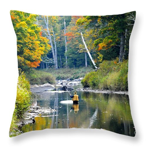 Fall Throw Pillow featuring the photograph Fall Fishing by David Lee Thompson