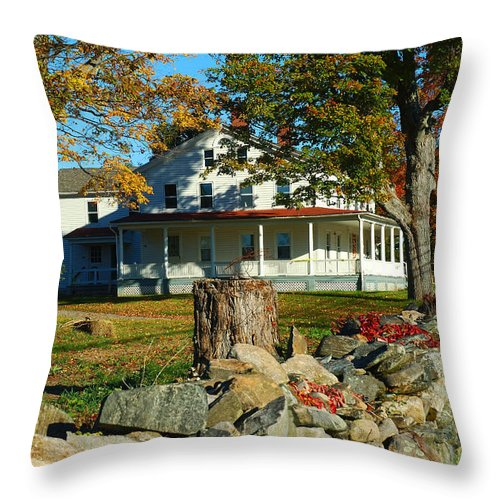 Fall Throw Pillow featuring the photograph Fall In Connecticut by Edward Sobuta