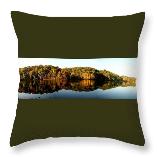 Fall Throw Pillow featuring the photograph Fall In Indiana by Carol Milisen