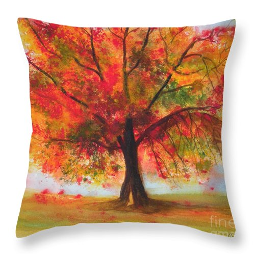 Fall Throw Pillow featuring the painting Fall by Jan Freeman