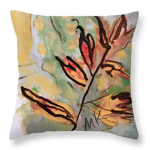 Fall Throw Pillow featuring the digital art Fall by Mary Jo Hopton