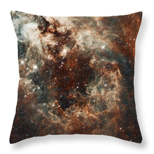 Nebula Throw Pillow featuring the photograph Fall Storm by Jennifer Rondinelli Reilly - Fine Art Photography