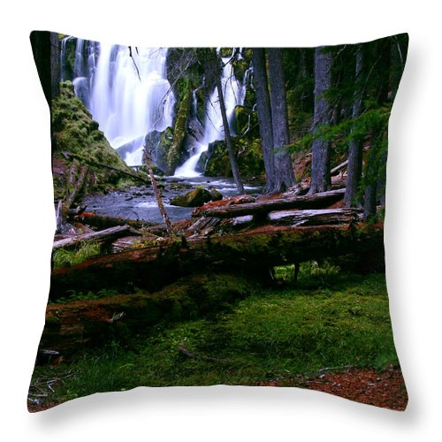 Waterfall Throw Pillow featuring the photograph Fall Through by Peter Piatt