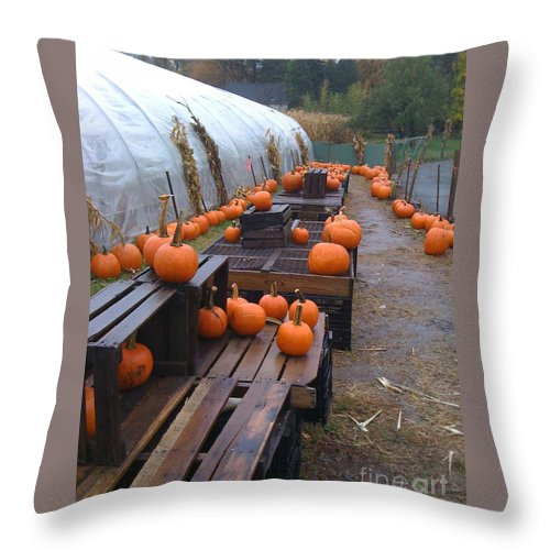 Fall Throw Pillow featuring the painting Fall View by Simonne Mina