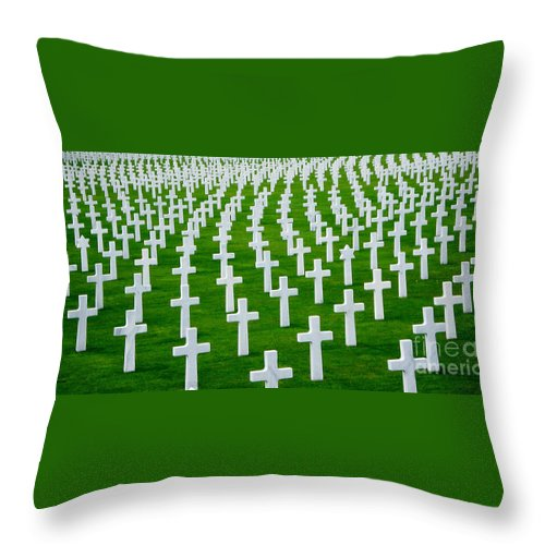 Cemetery Throw Pillow featuring the photograph Fallen by Jeff Barrett