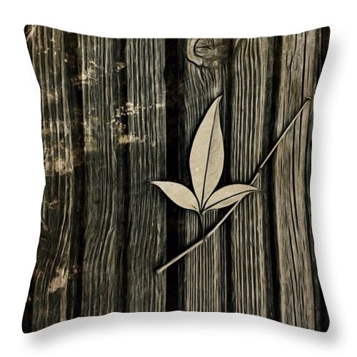 Icolorama Throw Pillow featuring the photograph Fallen Leaf by John Edwards