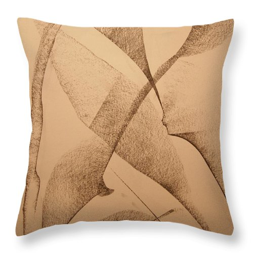 Abstract Throw Pillow featuring the drawing Fallin by David Barnicoat
