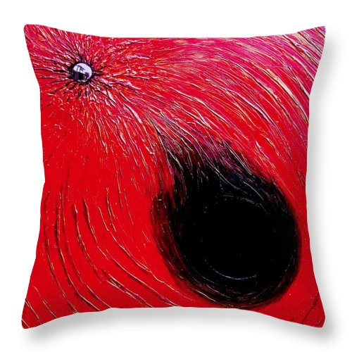 Abstract Throw Pillow featuring the painting Falling In To Passion by Ian MacDonald