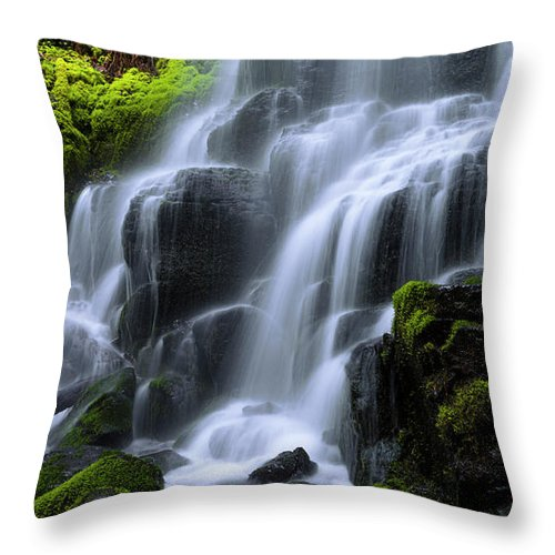 Falls Throw Pillow featuring the photograph Falls by Chad Dutson