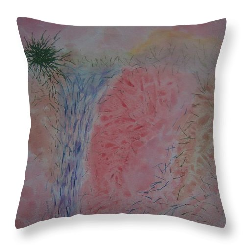 Water Throw Pillow featuring the painting Falls by Emily Young