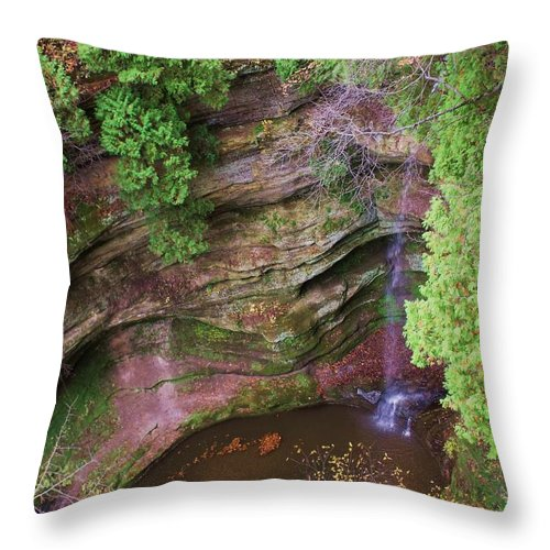 Waterfall Throw Pillow featuring the photograph Falls Number 50 by Anna Villarreal Garbis
