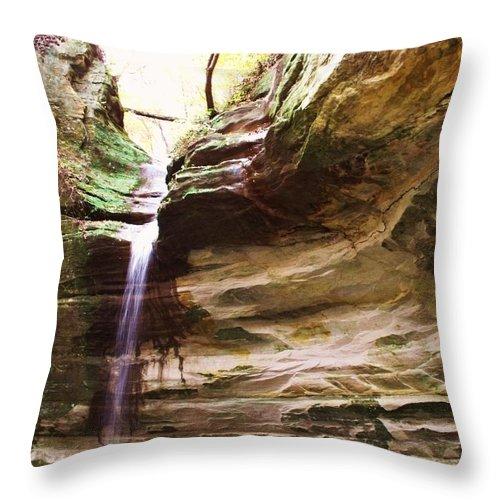 Waterfalls Throw Pillow featuring the photograph Falls Number 51 by Anna Villarreal Garbis