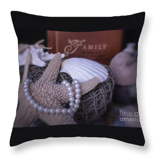 Family Treasures Throw Pillow featuring the photograph Family Treasures by Mary Lou Chmura