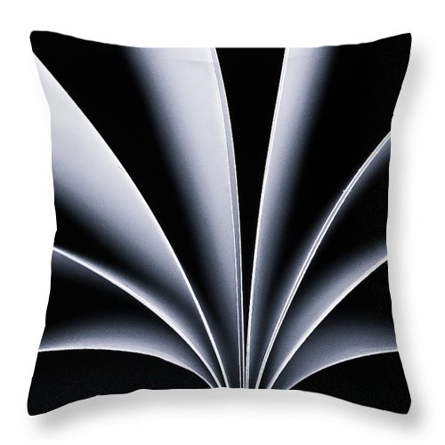 Still Life Throw Pillow featuring the photograph fan by Kevin Towler