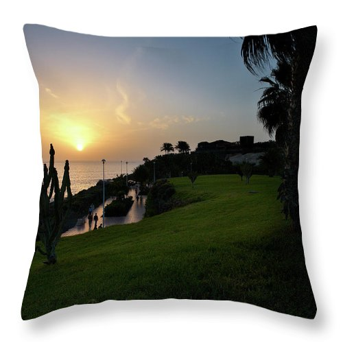 Fanabe Throw Pillow featuring the photograph Fanabe Evening 1 by Jouko Lehto