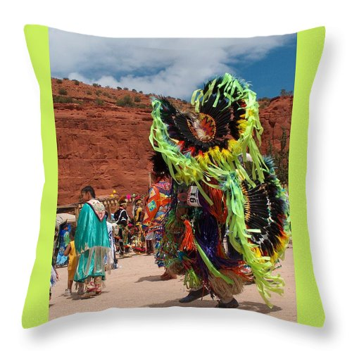 Fancy Dancer Throw Pillow featuring the photograph Fancy Dancer by Tim McCarthy