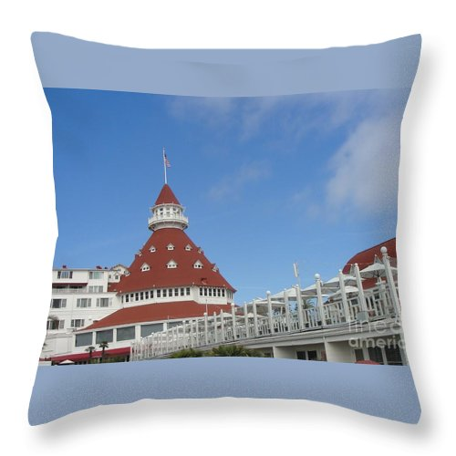 Fancy Hotel In Southern California Throw Pillow featuring the photograph Fancy Hotel In Southern California by Alice Heart