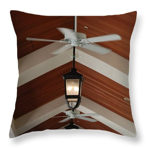 Fans Throw Pillow featuring the photograph Fans And Lights by Rob Hans