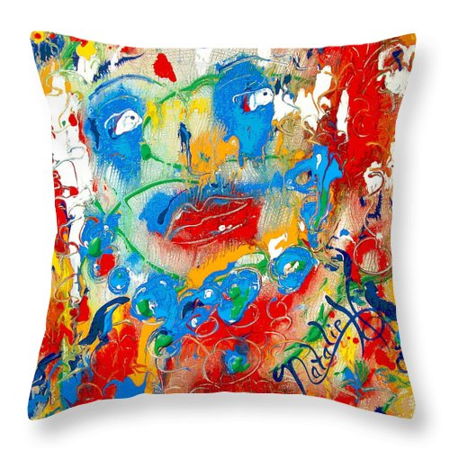 Woman Throw Pillow featuring the painting Fantasia by Natalie Holland