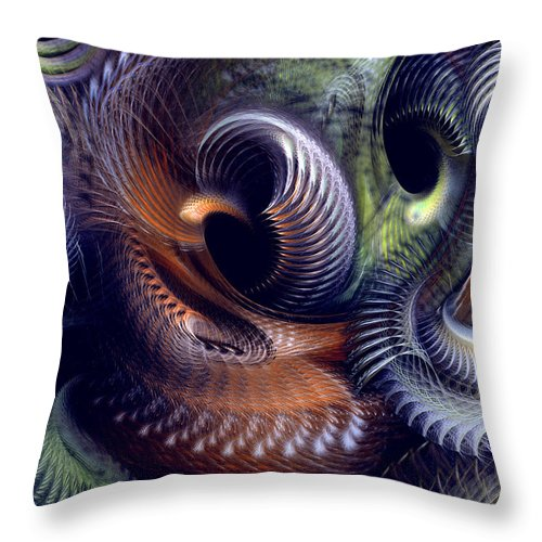 Abstract Throw Pillow featuring the digital art Fantastique by Casey Kotas