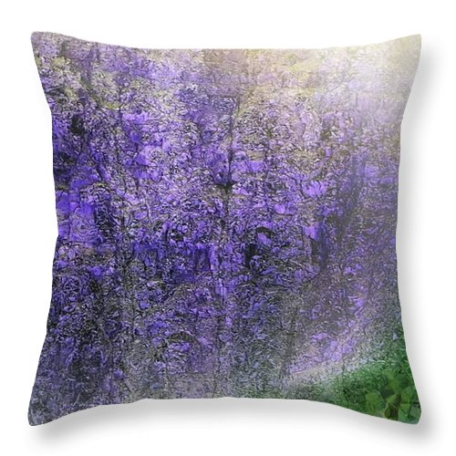 Floral Throw Pillow featuring the digital art Fantasy Floral 07-10-17 by David Lane
